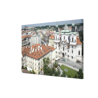 Cityscape of historical Prague, Czech Republic Gallery Wrapped Canvas