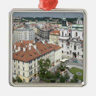 Cityscape of historical Prague, Czech Republic Christmas Ornament