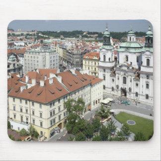 Cityscape of historical Prague, Czech Republic Mouse Mat