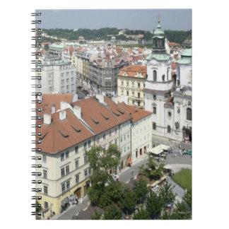 Cityscape of historical Prague, Czech Republic Notebook