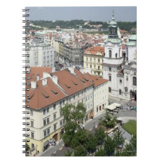 Cityscape of historical Prague, Czech Republic Notebooks
