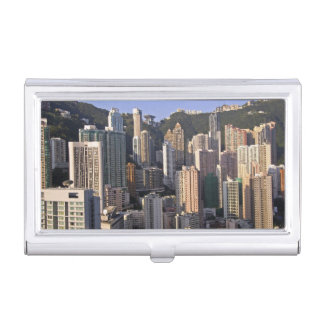 Cityscape of Hong Kong, China Business Card Holder
