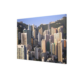 Cityscape of Hong Kong, China Stretched Canvas Print