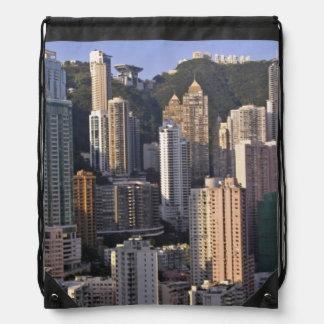 Cityscape of Hong Kong, China Drawstring Bag
