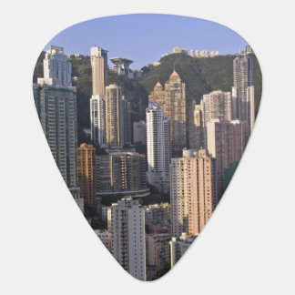 Cityscape of Hong Kong, China Guitar Pick