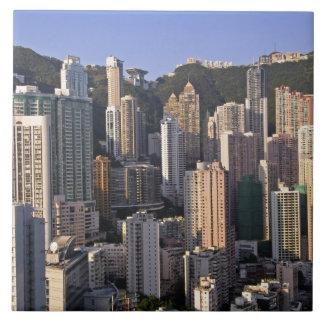 Cityscape of Hong Kong, China Large Square Tile