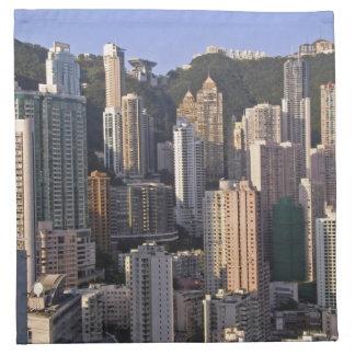 Cityscape of Hong Kong, China Napkin