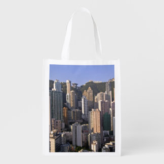 Cityscape of Hong Kong, China Reusable Grocery Bag