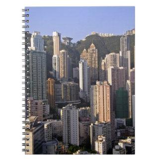 Cityscape of Hong Kong, China Spiral Note Books