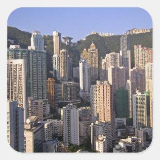 Cityscape of Hong Kong, China Square Sticker