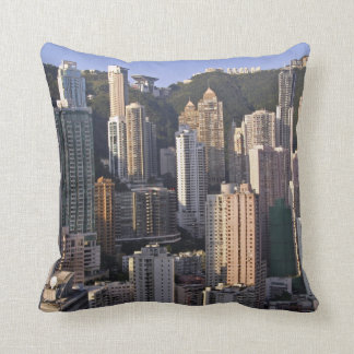 Cityscape of Hong Kong, China Throw Pillow
