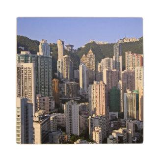 Cityscape of Hong Kong, China Wood Coaster