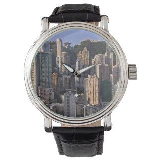 Cityscape of Hong Kong, China Wristwatch