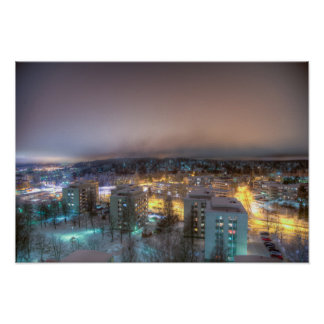Cityscape of Lahti Poster