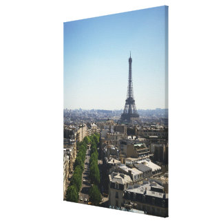 Cityscape of Paris, France Stretched Canvas Print