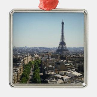 Cityscape of Paris, France Christmas Ornament