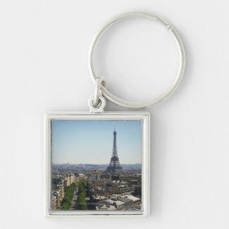 Cityscape of Paris France Key Chain