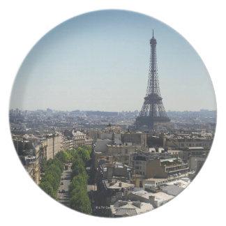 Cityscape of Paris, France Plate