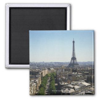 Cityscape of Paris, France Square Magnet