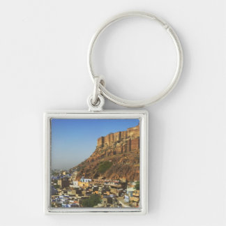 Cityscape of the Blue City with Meherangarh, the Key Chain
