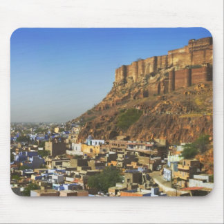 Cityscape of the Blue City with Meherangarh, the Mouse Mat