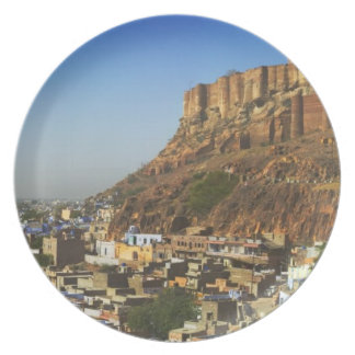 Cityscape of the Blue City with Meherangarh, the Plate