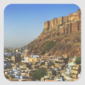 Cityscape of the Blue City with Meherangarh, the Square Sticker
