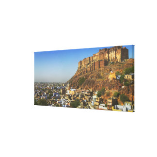 Cityscape of the Blue City with Meherangarh, the Stretched Canvas Prints