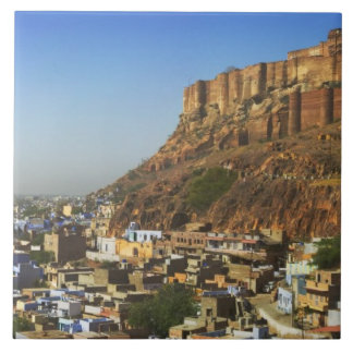 Cityscape of the Blue City with Meherangarh, the Tile