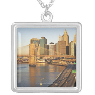 Cityscape Silver Plated Necklace