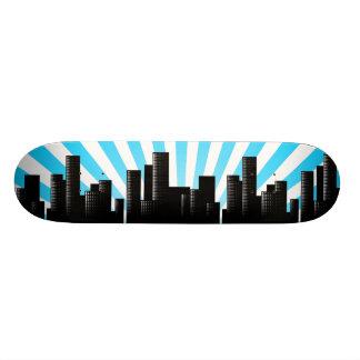 cityscape skate deck