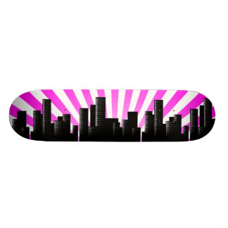 cityscape skate board decks