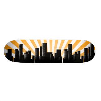 cityscape skateboard decks