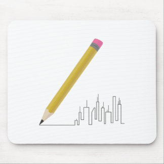 Cityscape Sketch Mouse Pad