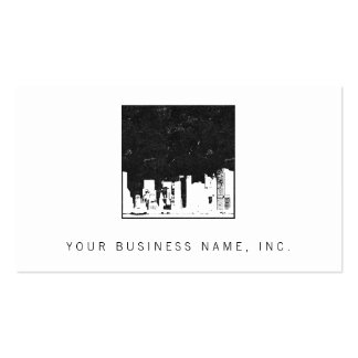 Cityscape Square Pack Of Standard Business Cards