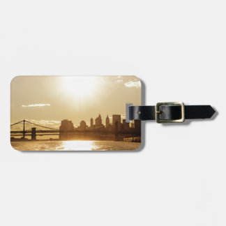 Cityscape Sunset over the New York Skyline Luggage Tag