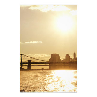 Cityscape Sunset over the New York Skyline Stationery