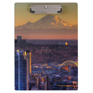 Cityscape view of Seattle downtown, football Clipboard