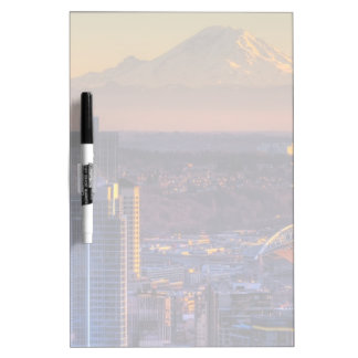 Cityscape view of Seattle downtown, football Dry Erase Board