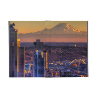 Cityscape view of Seattle downtown, football iPad Mini Cover