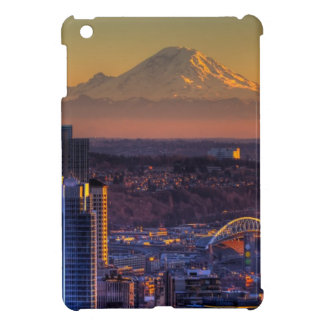 Cityscape view of Seattle downtown, football iPad Mini Covers