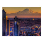 Cityscape view of Seattle downtown, football Postcard