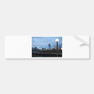 CityscapeEvening041609a Car Bumper Sticker