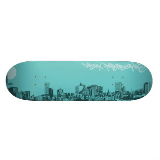 Cityscapes - Melbourne City Custom Skate Board