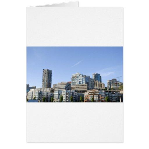 CitySkylineb051709 Greeting Card