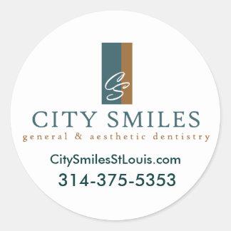citysmiles-logo.ai, CitySmilesStLo... - Customized Round Sticker