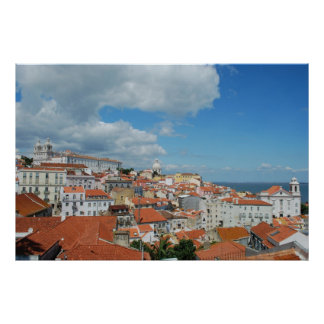 Cityview of the Capital of Portugal, Lisbon Poster