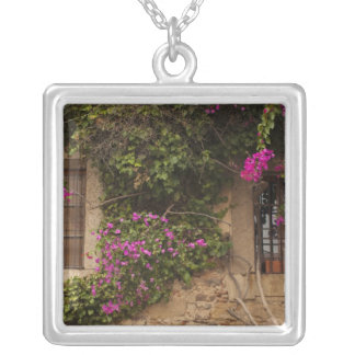 Ciudad Monumental, flower-covered buildings 2 Silver Plated Necklace