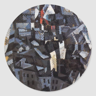 Ciudades. City by Robert Delaunay Round Sticker