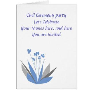 Civil Ceremony Party Invitation Greeting Card